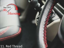 For Autocar Expert -black Steering Wheel Cover Red Stitch