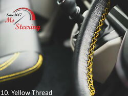 For Autocar Expert -black Steering Wheel Cover Yellow Stitch