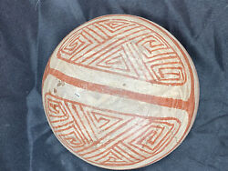 Amazing 7 3/4andrdquo Wide Pre-columbian Pottery Bowl Solid Old Authentic Example