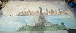 Giant Vintage 30 Foot Theater Canvas Statue Of Liberty New York City Backdrop