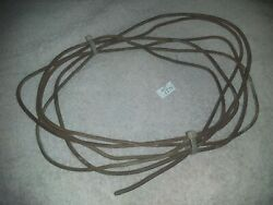 12and039 Primitive Vintage Steampunk Antique Rusty Smooth Farm Wire Art Craft Project