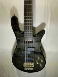 warwick Streamer Stage 1 Flamed Top Black Bass Guitar With Soft Case