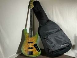 Bacchus Woodline Dx4 Ewc Gb Electric Bass Guitar With Soft Case Japan Shipped