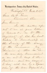 William T. Sherman - Letter Signed - Reflects On Ulysses S. Grant And Civil War