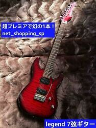 Legend Vintage Quality 7 Strings Red Electric Guitar Shipped From Japan