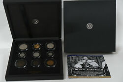 King Edward Vii Complete Coin Set With Australian Full Sovereign M In Case
