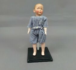 Antique 16 Gebruder Heubach Bisque And039whistling Jimand039 Boy Doll Mold No. 5