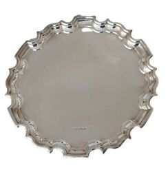 Sterling Silver Chippendale Waiter Salver Tray Carrs Of Sheffield
