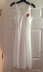 Nos White Long Slip Vintage 50s Nylon Luxite Kayser Holeproof Nwt Flaws Sz 34