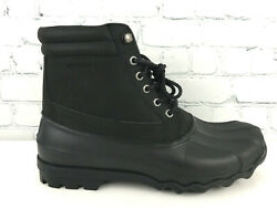 Sperry Top-sider Brewster Mens Black Waterproof Duck Boots Size 9