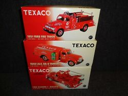 Texaco Day And Night First Gear Truckand039s 1951 Ford 1949 Int 1955 Diamond-t Tow