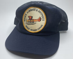 Vintage 60and039s Ignace Airways And Outposts Ontario Canada Hat Patch Hunting Fishing