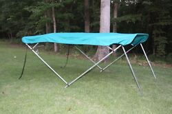 New Vortex Teal Bimini Top 10and039 Long 97-103 Wide 4 Bow Pontoon/deck Boat