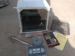 Ronco Showtime Model 4000 Rotisserie Bbq Oven White With Accessories