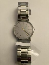 Mens Skagen Stainless Steel Quartz Large Face Watch With Gray Face - New