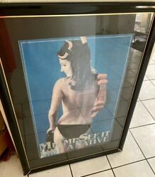 Miami. See It Like A Native Original Framed Poster Signed By Model Gail Kellyandnbsp