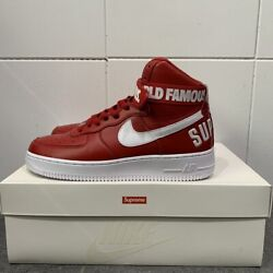 Supreme 14aw Nike Air Force 1 High Sp 698696-610 Menand039s Us8 Unworn Mint