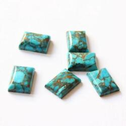 Natural Blue Copper Turquoise Octagon Cabochon 13x18mm To 15x20mm Aaa Quality