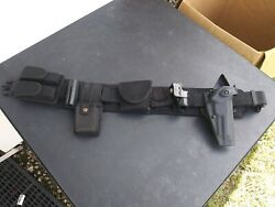 Small Police Guard Tactical Gear Blackhawk Vest Belt + All In Picture
