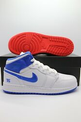 Nike Air Jordan 1 Mid Se 85 Gs White Chile Red Blue Dh0200-100 Gs Sizes 3.5-7y