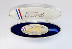Ford Motor Company Model A Coin - 1.5 Troy Oz .999 Silver 24kt Gold Nwt Mint