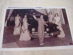 1948 Tucker On Stage With Preston Tucker And Models 11 X 17 Photo / Picture