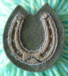 13th Infantry Division Lucky Horse Shoe Patch Cloth Badge 55 Mm Used - Rare