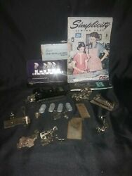 Vintage Sewing Machine Attachments And Magazine