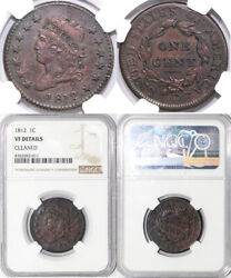1812 1c Classic Head Large Cent Ngc Vf Details Cleaned