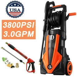 3800psi High Pressure Washer Machine Electric 3.0gpm Power Washer 1800w 4nozzles