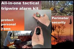 Camp Guardian Trip Wire Alarm W/ Waterproof Kit And 85ft Of Trip Wire On Reel