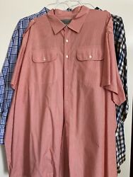 Menandrsquos Button Down Shirt Size 5xb Lot Of 3 Plaid Collared Big Tall