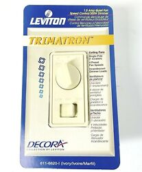 Leviton Trimatron Decora In Wall Ceiling Fan Speed Control Light Dimmer