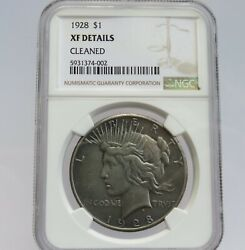 1928 Peace Silver Dollar Xf Details Cleaned Ngc Graded F4002