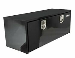 1702115 18in X 18in X 60in Black Steel Toolbox W/ Ss Rotary Paddle Latches