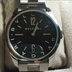 Bvlgari Solotempo St37sd0145 Stainless Steel Unisex Watch With Box Japan Shipped