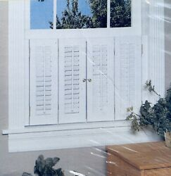 Colonial Shutter Set Faux Wood White 29andrdquow X 36andrdquol 199161 766686413144