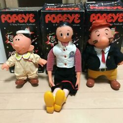Rare Popeye Series Olive Winpe Wimpy And Swee Pea Vintage Plush Doll