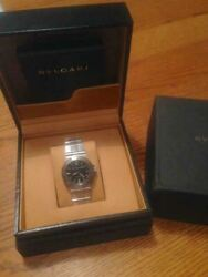 Bvlgari Automatic Winding Stainless Steel Analog Wristwatch For Unisex With Box