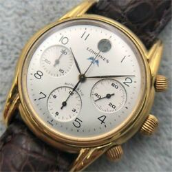Longines Monument L46612 Swiss Made Chronograph Water Resistant Men's Watch