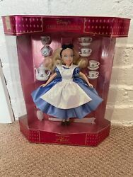 Disney's Alice In Wonderland Doll With Tea Set. Nip. Classic Doll Collection
