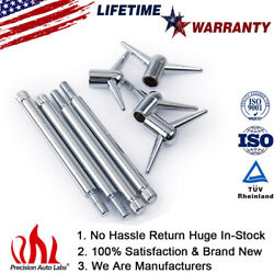 4pc 9824 Chrome Valve Cover T-bar Wing Bolts 1/4-20 Hold Down For Sbc Bbc Chevy