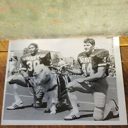 Navy Football Picture Day Napoleon Mccallum Eric Fudge Billy The Goat 8andtimes10