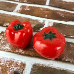Vintage Salt And Pepper Shakers Red Tomatoes Pepper Vegetable