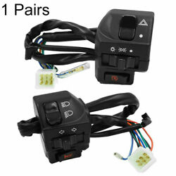 2x Universal Bike Motorcycle 7/8 Handle Bar Switch Gear Control For Cafe Racer
