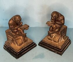 Pair Of Bronze Monkey Bookends By Isodore Bonheur - Direct From House Clearance