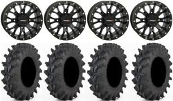 System 3 St-3 Black 14 Wheels 30 Outback Max Tires Yamaha Grizzly Rhino