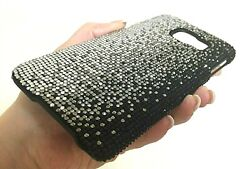 Galaxy S20 Plus Case Made With Faded Black Crystals Glitter Diamonds