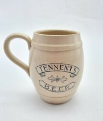 Antique Tennentand039s Beer Possil Pottery Advertising Barrel Tankard C1917 - Rare