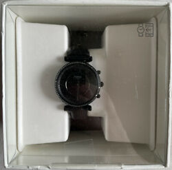 Fossil Women#x27;s Carlie Stainless Steel Hybrid Smartwatch Black Leather $84.99